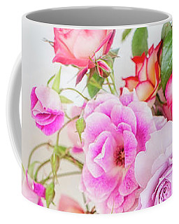 Rose Bouquet And Vintage Teapot Coffee Mug