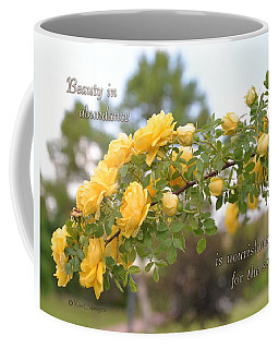 Rose Bower With Message Coffee Mug by Kae Cheatham