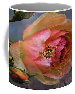 Rose Buttefly Coffee Mug