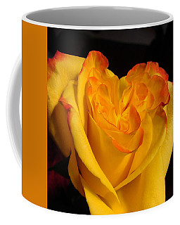 Coffee Mug featuring the photograph Rose Heart by Margaret Bobb
