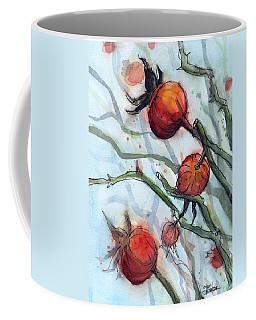 Rose Hips Abstract  Coffee Mug