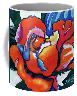 Coffee Mug featuring the painting Rose In Outline by Kathy Braud