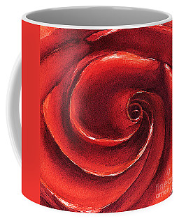 Coffee Mug featuring the painting Rose In Stone by Allison Ashton