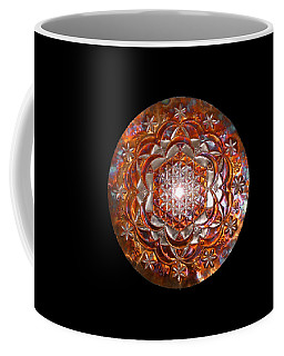 Coffee Mug featuring the sculpture Rose Of Life Copper Lightmandala by Robert Thalmeier