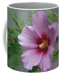 Coffee Mug featuring the painting Rose Of Sharon by John Dyess