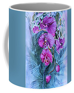 Rose Orchids Coffee Mug by Mindy Newman