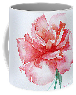Coffee Mug featuring the painting Rose Pink by Jasna Dragun