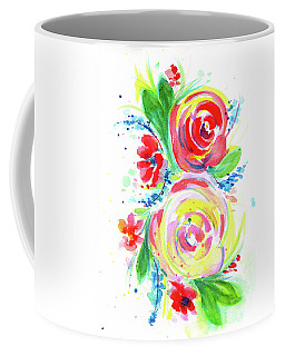 Rose Red Rose Yellow  Coffee Mug