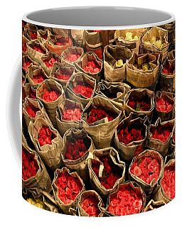 Rose Rolled In Newspaper Coffee Mug