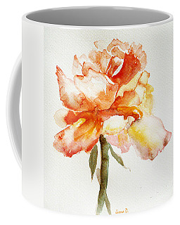 Coffee Mug featuring the painting Rose Yellow by Jasna Dragun