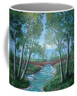 Roseanne And Dan Connor's River Bridge Coffee Mug