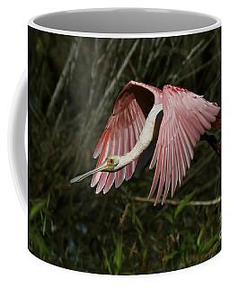 Roseate Spoonbill Flight Coffee Mug
