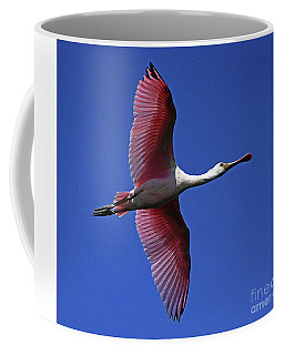 Roseate Spoonbill On The Wing Coffee Mug by Larry Nieland