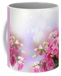 Roses And Eustomas Coffee Mug