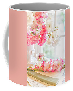 Roses And Gladiolus In Morning Light Coffee Mug