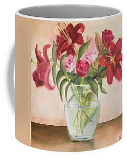 Roses And Lilies Coffee Mug