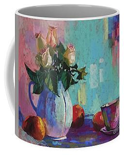 Roses And Peaches Coffee Mug