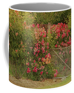 Roses By The Garden Gate Coffee Mug