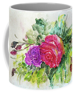 Coffee Mug featuring the painting Roses For You by Jasna Dragun