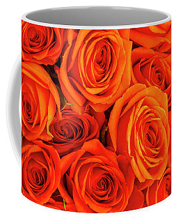 Roses In Orange Coffee Mug