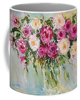 Roses In Pink And White Coffee Mug