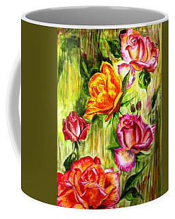 Coffee Mug featuring the painting Roses In The Valley  by Harsh Malik