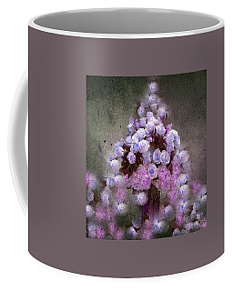Roses Lilac And Shabby Pink Coffee Mug by Saundra Myles
