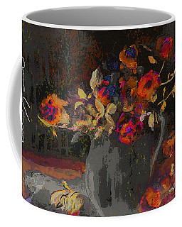 Coffee Mug featuring the mixed media Roses by Lisa Kaiser