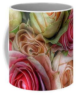 Coffee Mug featuring the photograph Roses- Pink And Cream by Marianna Mills