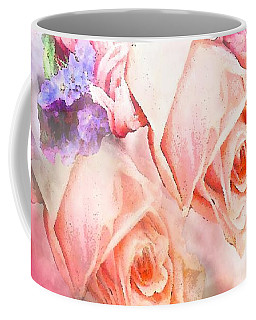 Roses  So Pink Coffee Mug by Saundra Myles