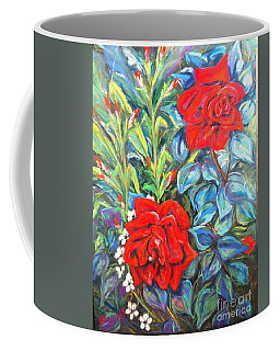 Roses With Baby Breath Coffee Mug