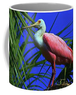 Coffee Mug featuring the painting Rosetta Spoonbill Alligator Farm by Deborah Benoit