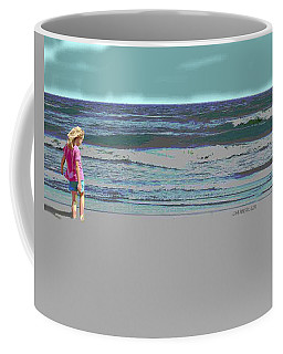 Rosie On The Beach Coffee Mug