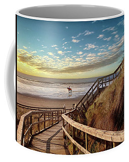 Rossnowlagh Beach At The End Of The Day - With A Horse Coffee Mug
