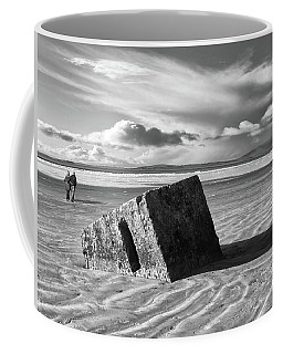 Rossnowlagh Beach - The Old Wartime Fortifications Sinking In The Sand With A Dramatic Sky Coffee Mug