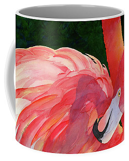 Coffee Mug featuring the painting Rosy Outlook by Judy Mercer
