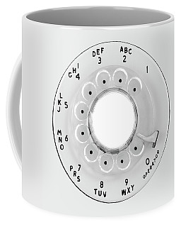Coffee Mug featuring the photograph Rotary Telephone Dial by Jim Hughes