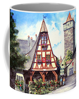 Coffee Mug featuring the painting Rothenburg Memories by Sam Sidders