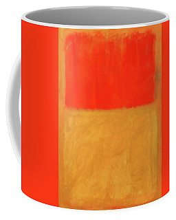 Rothko's Orange And Tan Coffee Mug