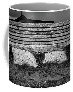 Coffee Mug featuring the photograph Rotten Bench by Keith Elliott