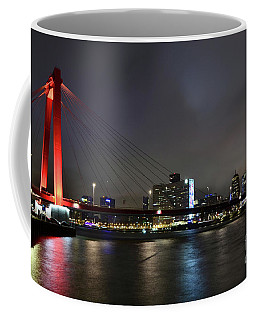 Rotterdam - Willemsbrug At Night Coffee Mug