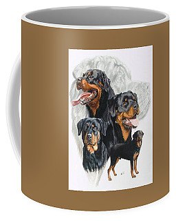 Rottweiler W/ghost  Coffee Mug