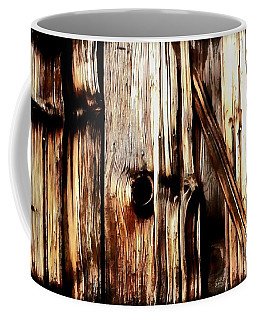 Coffee Mug featuring the painting Rough Cut - Knotted - Wood - Grain by Janine Riley