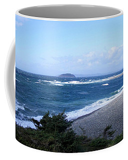 Coffee Mug featuring the photograph Rough Day On The Point by Barbara Griffin