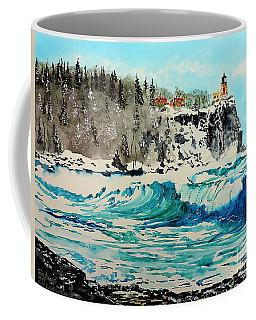 Rough Water At Split Rock Coffee Mug