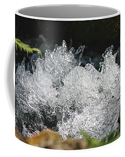 Coffee Mug featuring the photograph Rough Water Splash by Raphael Lopez