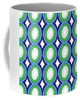 Round And Round Blue And Green- Art By Linda Woods Coffee Mug