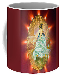 Coffee Mug featuring the photograph Round Halo Kuan Yin by Lanjee Chee