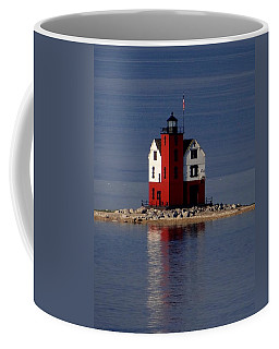 Round Island Lighthouse In The Morning Coffee Mug