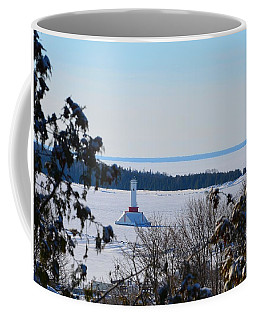 Round Island Passage Light Through The Trees Coffee Mug